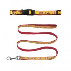 USC Trojans Dog Collars & Leashes