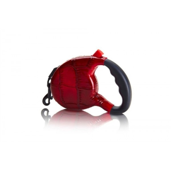The Executive - Quilted Retractable Leash-Red