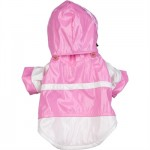 Pink and White Two-Tone PVC Raincoat