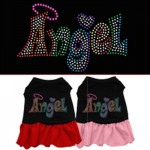 Technicolor Angel Rhinestone Pet Dress