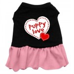 Puppy Love Screen Printed Two-Tone Dress