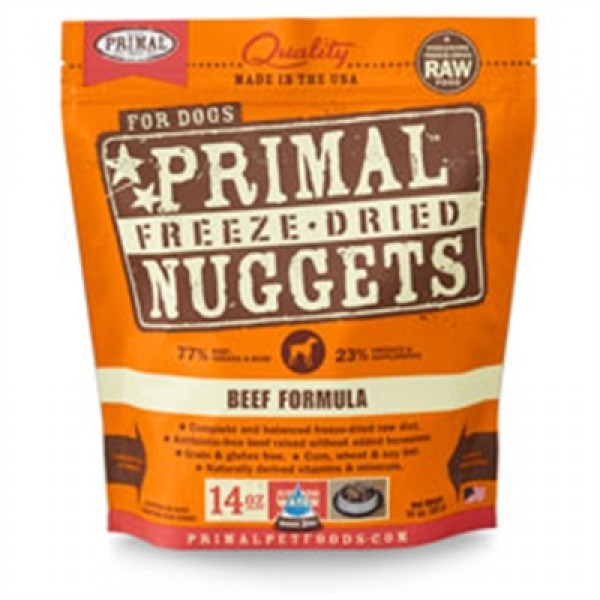 Primal Pet Foods Freeze Dried Food For Dogs 14 oz - Beef