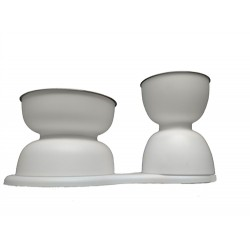 iSupperTime Elevated Double Bowl Set by DFBeautifool PET